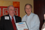U.S. Congressman Robert Pittenger and Chapter President Ron Morgan