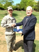 Chapter Presents MOAA Medal to UNC Charlotte ROTC Cadet
